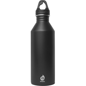 MIZU M8 juomapullo with Black Loop Cap 800ml , musta